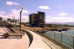 La costa en Libia Imagenes de archivo