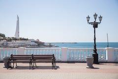 La costa en Sevastopol Imagenes de archivo