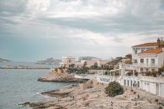 La costa francese gradisce mai prima fotografie stock