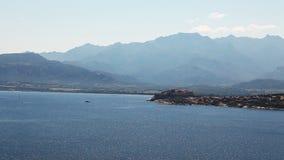 La costa hermosa de Córcega almacen de metraje de vídeo