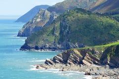 La costa intorno a Woody Bay Fotografia Stock