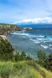 La costa a lo largo de la bahía de Honokohau en Maui, Hawaii Fotografía de archivo libre de regalías