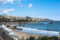 La costa a lo largo de Sanremo, Italia fotos de archivo libres de regalías