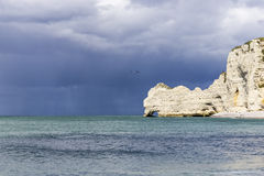 La costa nordica della Francia Fotografie Stock Libere da Diritti
