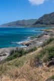 La costa oeste a lo largo de Makua, Oahu, Hawaii imagen de archivo