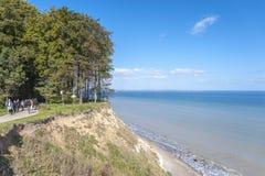 La costa ripida di Brodtener vicino al nde del ¼ di Travemà fotografia stock libera da diritti