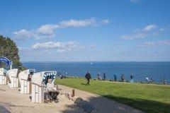 La costa ripida di Brodtener vicino al nde del ¼ di Travemà immagini stock libere da diritti