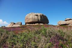 La costa rosada del granito, Cote de granit subió, en Bretaña Imagen de archivo libre de regalías