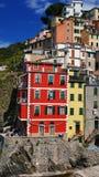 La costa variopinta in Cinque Terre, Corniglia, Italia Fotografia Stock Libera da Diritti