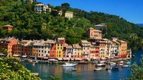La costa variopinta in Portofino, Italia Fotografia Stock Libera da Diritti