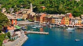 La costa variopinta in Portofino, Italia Fotografie Stock