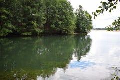 La costa verde del lake2 immagine stock