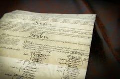 La costituzione Fotografia Stock