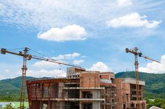 La costruzione è stata abbandonata Fotografia Stock Libera da Diritti
