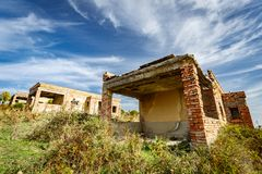 La costruzione abbandonata rimane Fotografia Stock