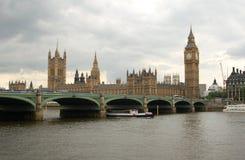 La costruzione britannica del Parlamento ed il grande Ben Fotografia Stock Libera da Diritti