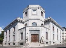 La costruzione centrale dell'ufficio postale a Carrara, Toscana Fotografia Stock Libera da Diritti