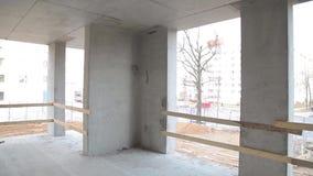 La costruzione degli edifici moderni stock footage