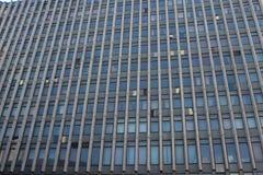 La costruzione dei periodi sovietici con una soluzione architettonica insolita, ora l'ufficio di RosGeology fotografie stock libere da diritti