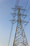 La costruzione del cavo della posta di elettricità Fotografie Stock Libere da Diritti