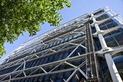La costruzione del centro di Georges Pompidou. Fotografie Stock Libere da Diritti