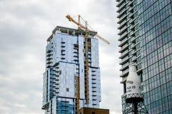 La costruzione del grattacielo Immagini Stock