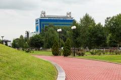 La costruzione del Ministero di informazioni in Groznyj Fotografia Stock