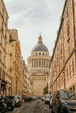 La costruzione del panteon a Parigi fotografia stock