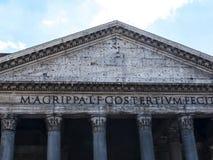 La costruzione del panteon a Roma Italia ora è una chiesa ma precedentemente era una costruzione ha dedicato tutti i dei di Roma  Fotografia Stock