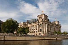 La costruzione del Parlamento di Reichstag, Berlino, Germania Fotografia Stock