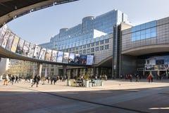 La costruzione del Parlamento Europeo Fotografia Stock