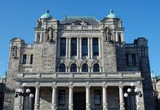 La costruzione del Parlamento in Victoria Immagini Stock Libere da Diritti