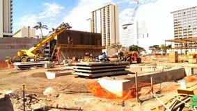 La costruzione del posto del mercato internazionale Immagine Stock