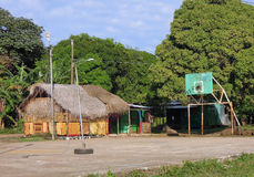 La costruzione del Thatch mette in mostra l'isola Nicaragu del cereale della corte Fotografia Stock Libera da Diritti