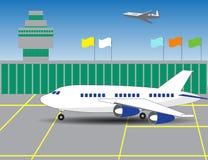 La costruzione dell'aeroporto, pista Immagini Stock Libere da Diritti