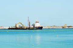 La costruzione dell'occhio del Dubai dei 210 tester Fotografia Stock Libera da Diritti