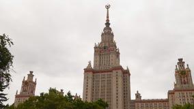 La costruzione dell'università di Stato di Mosca stock footage