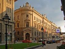 La costruzione della banca nazionale della Serbia in re Petar Street a Belgrado, Serbia fotografie stock libere da diritti