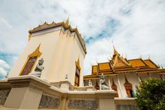 La costruzione della biblioteca in Royal Palace - Phnom Penh, Cambogia Fotografie Stock