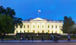 La costruzione della Casa Bianca in Washington, DC Fotografia Stock