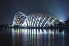 La costruzione della cupola dei fiori Singapore Immagine Stock