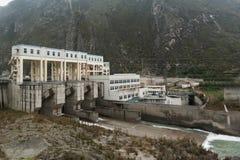 La costruzione della diga Immagini Stock