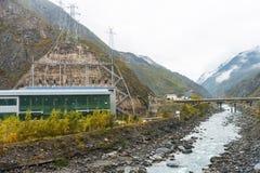 La costruzione della diga Fotografia Stock