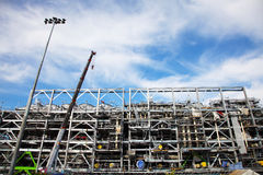 La costruzione della piattaforma di perforazione Fotografia Stock
