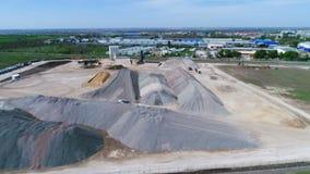 La costruzione della pista stock footage