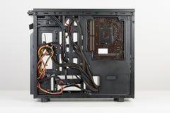 La costruzione della scheda madre di ATX, del PC e dell'unità di alimentazione ha inserito la t Fotografia Stock Libera da Diritti