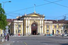 La costruzione della stazione ferroviaria di Belgrado, Serbia Fotografie Stock