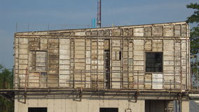 La costruzione delle case Fotografia Stock Libera da Diritti