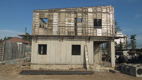 La costruzione delle case Immagini Stock Libere da Diritti