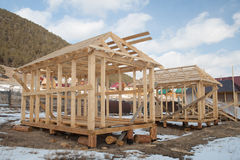 La costruzione delle case di comitato Fotografia Stock Libera da Diritti